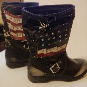 White Mountain Motorcycle Patriotic Boots